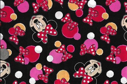 Minnie Heads on Black A0125 Nutex