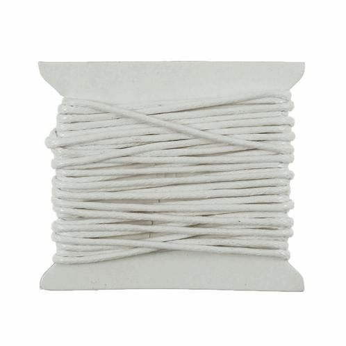 Cotton Waxed Cord White 2m x 1mm CF01/55619