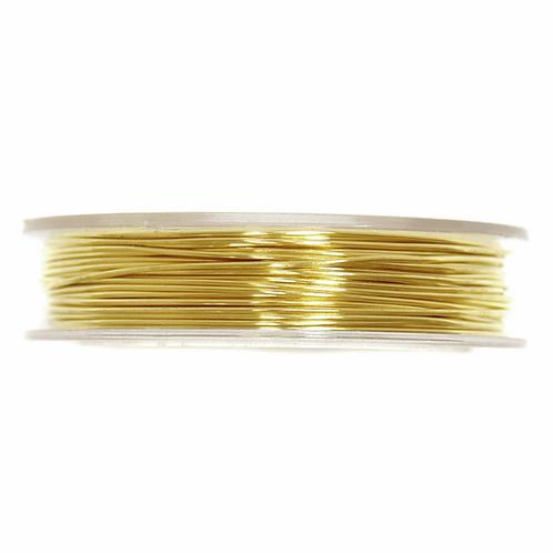 Brass Wire 5m x 0.5mm Gold CF01/55302