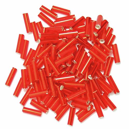 6mm Bugle Beads Red CF01/05003