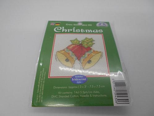 Mini Cross Stitch - Christmas Bells
