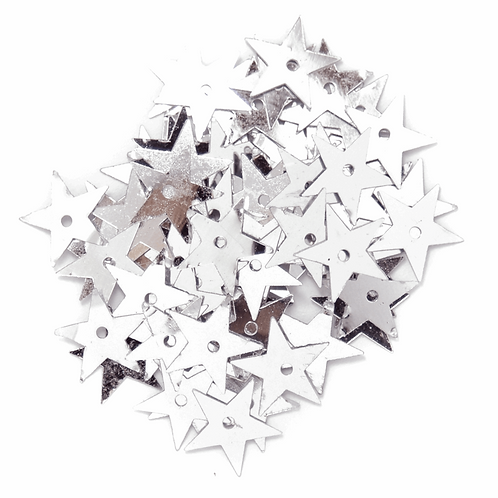 10mm Star Sequins Silver CF01/01401