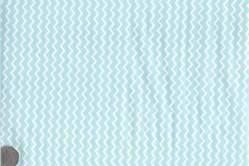 Blue with White Zig Zags A0140