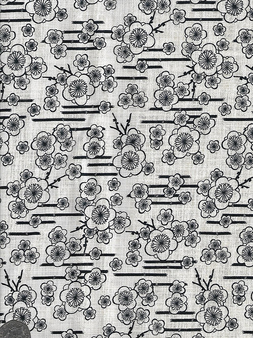 Bamboo & Blossom on White A0491 Nutex 68170