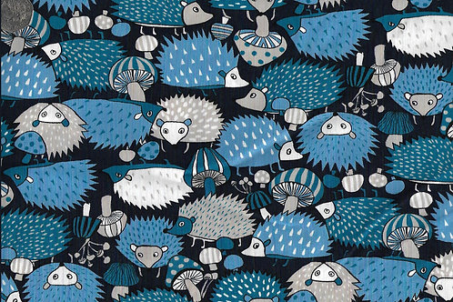 Hedgehogs on Navy A0736 Nutex