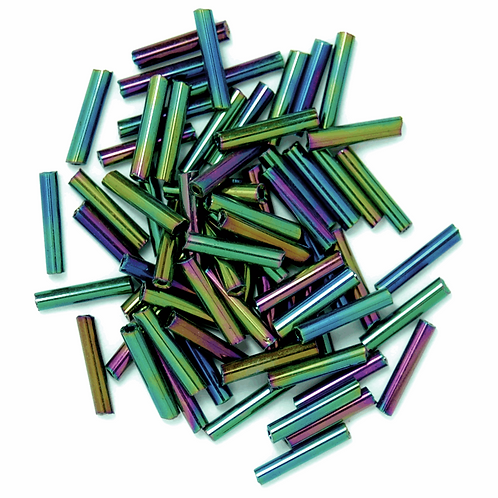 9mm Bugle Beads Rainbow CF01/10036