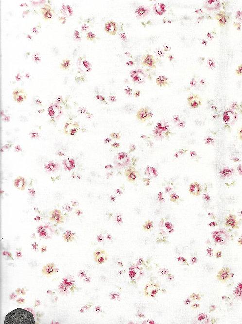 Medium Cream & Pink Roses on Cream A0744 Nutex 21490 109
