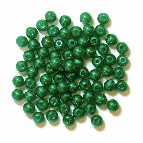 4mm Pearl Beads Green CF01/35404 7g