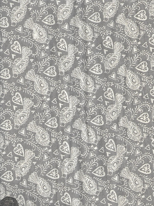 Doves on Grey A0625