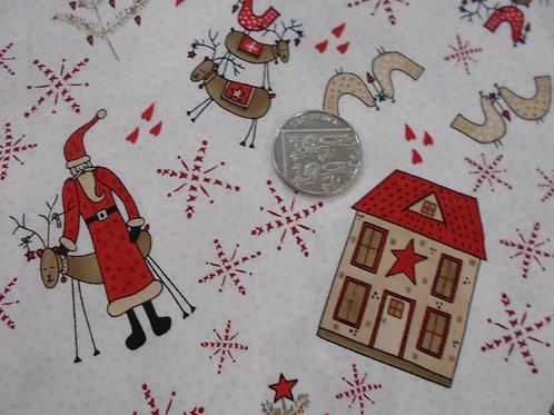 Santa on Cream C0005 Nutex