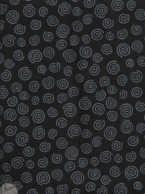 Grey Swirls on Black 2.8M Wide A0851 Nutex