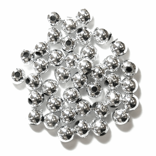 5mm Pearl Beads Silver CF01/35501