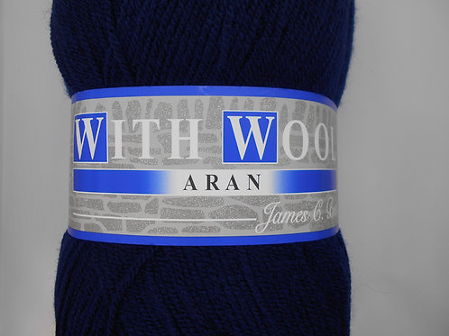 James. C. Brett with wool aran 400g 4AR64 Navy