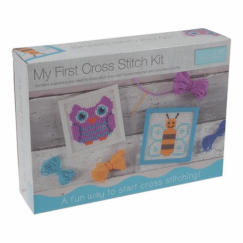 My First Cross Stitch Kit Trimits
