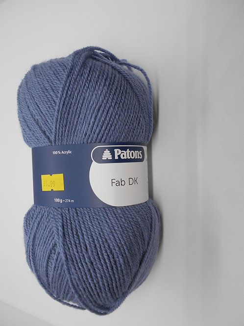 Patons Fab DK col 02312 Airforce 100g