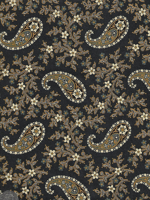 Paisley Blossom on Navy A0680 Andover