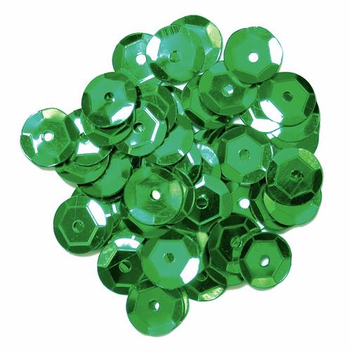 8mm Cup Sequins Green CF01/40804 5g