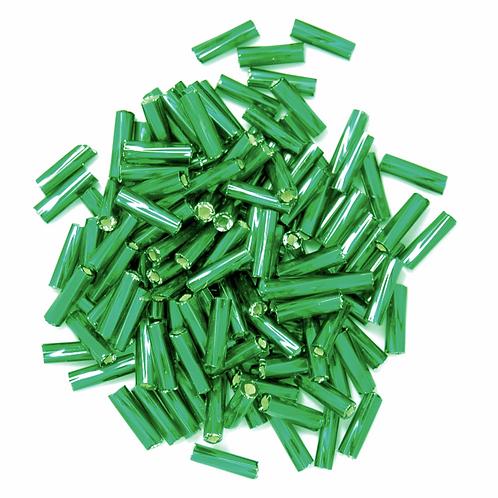 7mm Twisted Bugle Beads Green CF01/15004