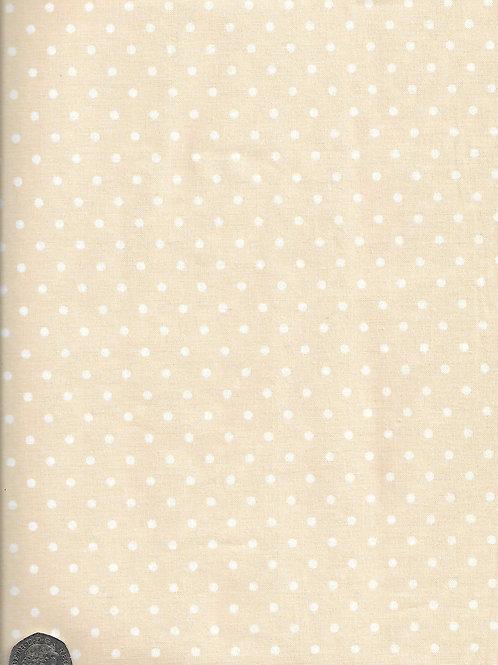 Cream Dots on Dark Cream A0743 Nutex 21490