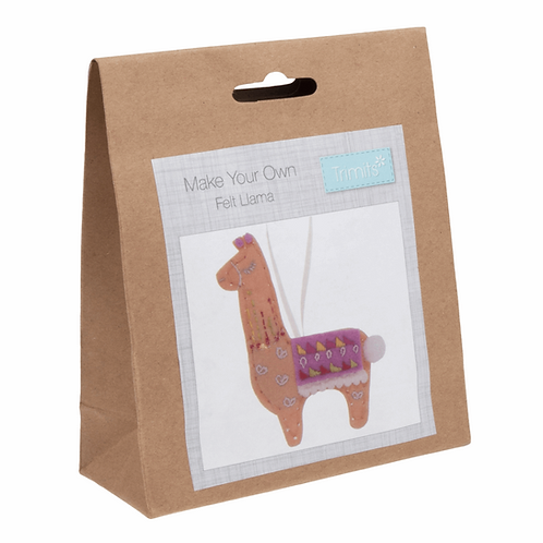 Make Your Own Felt Llama Trimits