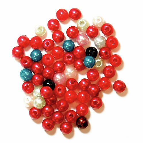 4mm Pearl Beads Multicoloured CF01/35407 7g