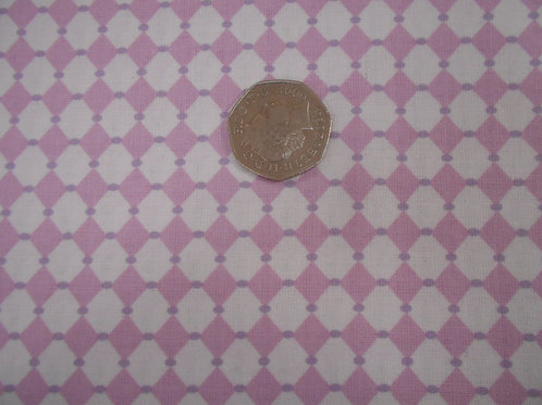 White Diamonds on Pink A0187 Guterman