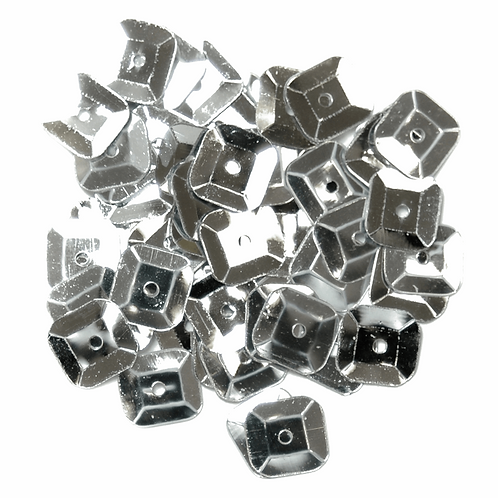 7mm Square Sequins Silver CF01/40701 5g