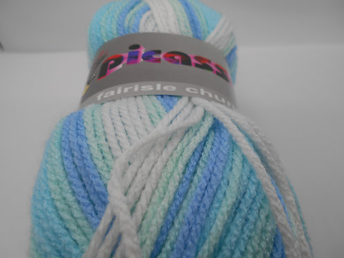Teddy Picasso Fairisle Chunky col 015 Blue Mix 100g