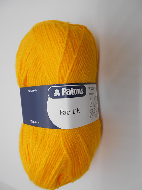Patons Fab DK col 02305 Canary 100g
