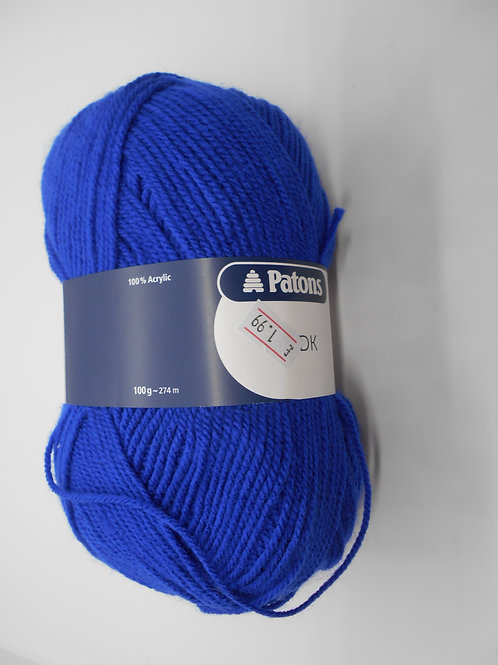 Patons Fab DK col 02321 Blue 100g