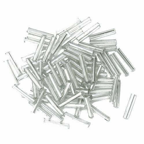 9mm Bugle Beads Silver CF01/10001