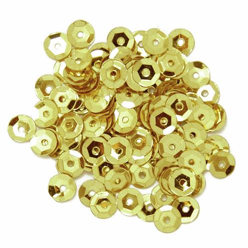 5mm Cup Sequins Gold CF01/40502 5g