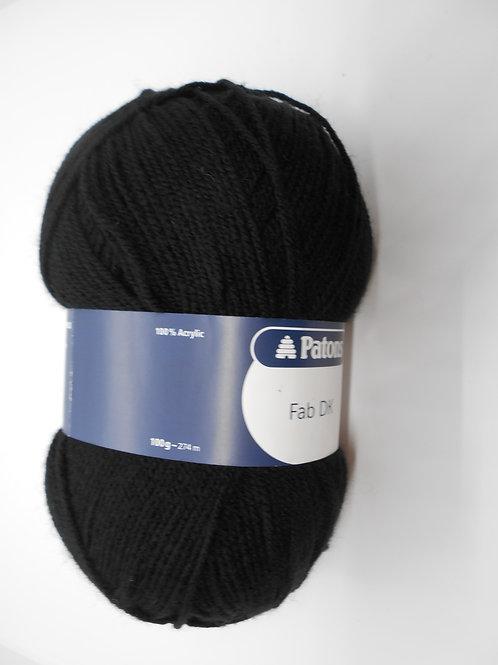 Patons Fab DK col 2311 Black 100g