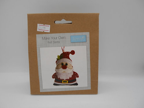 Make Your Own Felt Santa Trimits