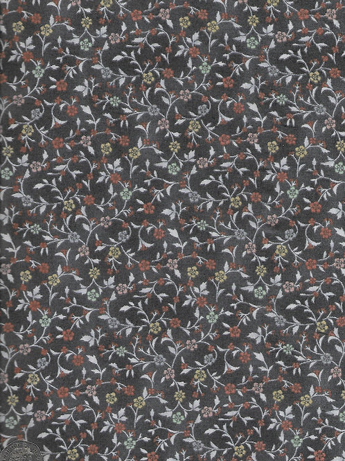 Dream Floral Scroll on Grey A0644 Makower