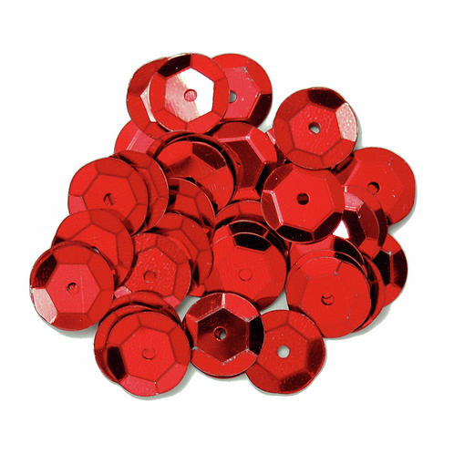 10mm Cup Sequins Red CF01/41003 5g