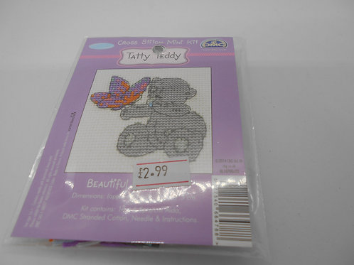 Mini Cross Stitch - Tatty Teddy - Beautiful Butterfly