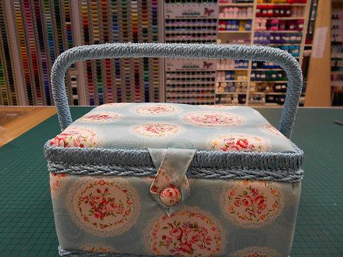 'Blue & Flower' Sewing Box