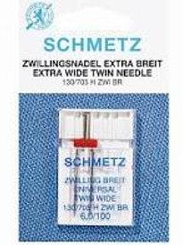 Schmetz Universal Extra Wide Twin Needle 6,0/100