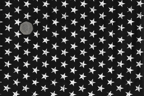 White Stars on Black Nutex A0059