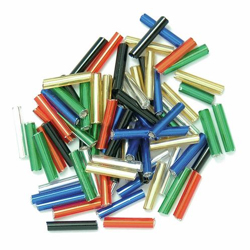 9mm Bugle Beads Multicoloured CF01/10007