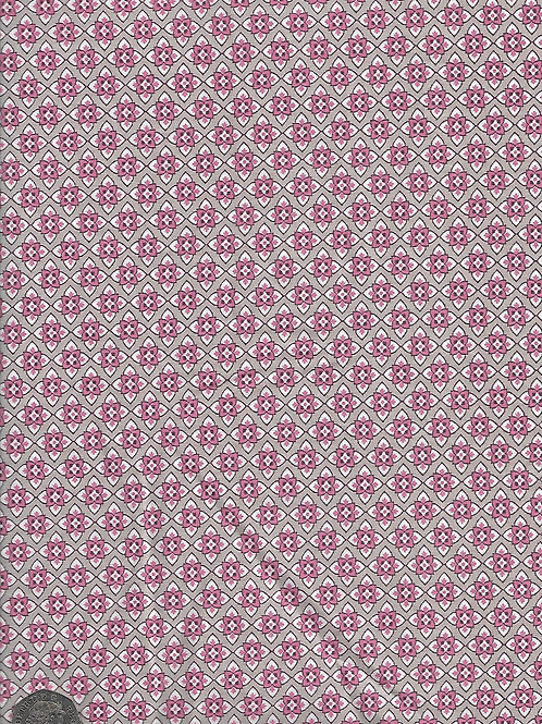 Pink Flowers on Grey A0785