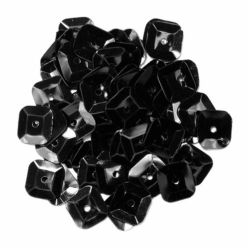 7mm Square Sequins Black CF01/40706 5g