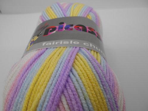 Teddy Picasso Fairisle Chunky col 006 Pastel Mix 100g