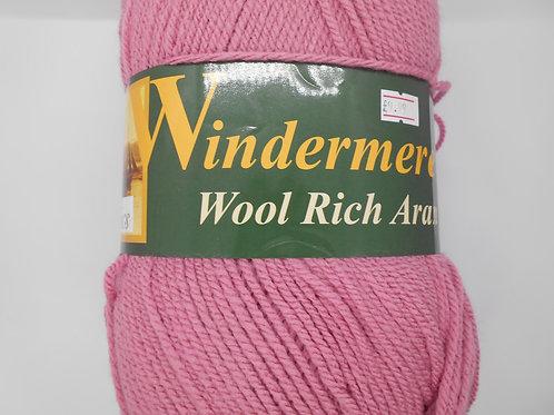 Windermere Wool Rich Aran col 220 Dusky Pink 400g