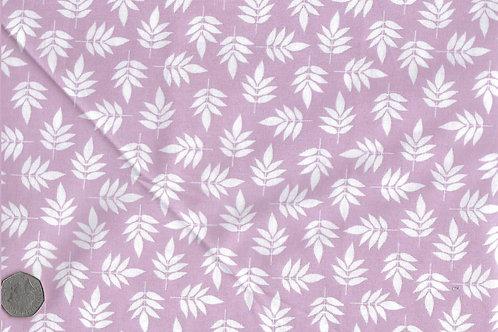 White  Leaves on Mauve A0170