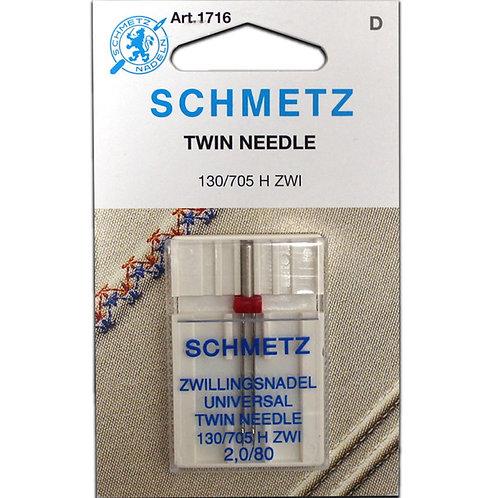 Schmetz Universal Twin Needle 2,0/80