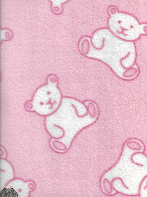 Teddy Bears on Pink Fleece F0004