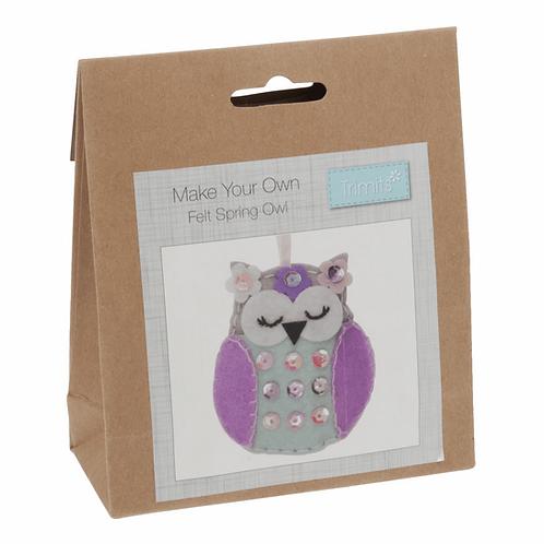 Make Your Own Felt Spring Owl Trimits