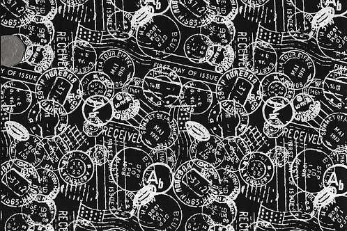 White Stamps on Black Nutex A0062